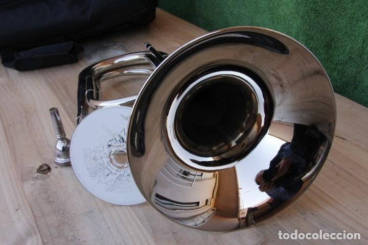 Instrumentos musicales: NUEVO ENORME E INTERESANTE SCHENKELAARS TRUMPET O CORNETA SIN PISTONES - - Foto 6 - 192804152
