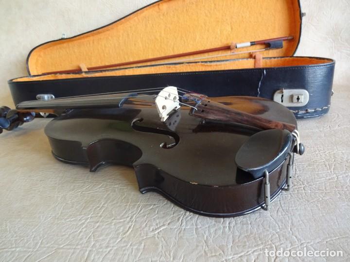 Instrumentos musicales: antiguo violin con funda - Foto 3 - 111866823