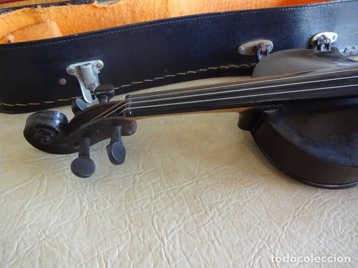 Instrumentos musicales: antiguo violin con funda - Foto 4 - 111866823