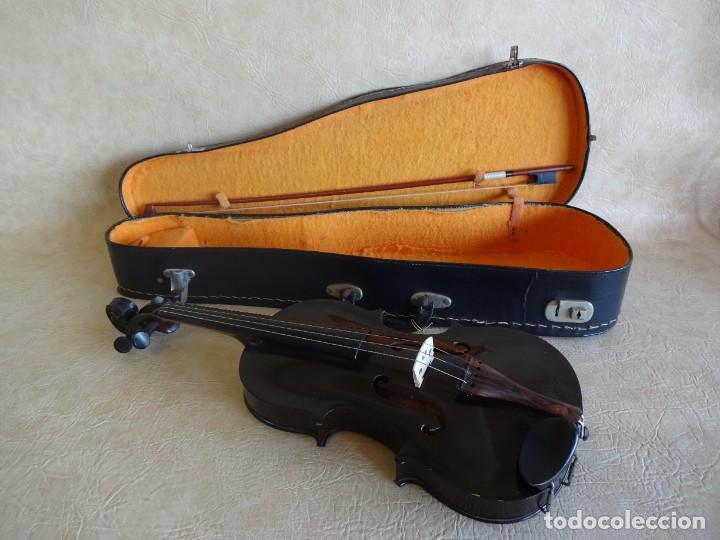 ANTIGUO VIOLIN CON FUNDA (Música - Instrumentos Musicales - Cuerda Antiguos)