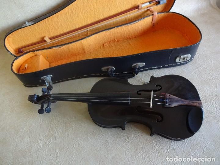 Instrumentos musicales: antiguo violin con funda - Foto 6 - 111866823