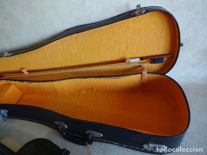 Instrumentos musicales: antiguo violin con funda - Foto 8 - 111866823