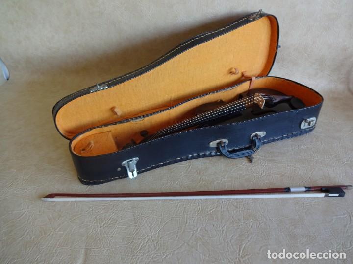 Instrumentos musicales: antiguo violin con funda - Foto 7 - 111866823