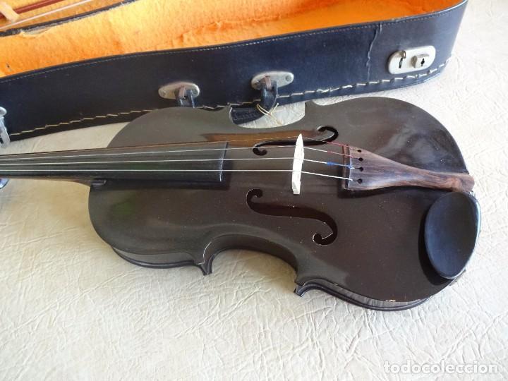 Instrumentos musicales: antiguo violin con funda - Foto 2 - 111866823
