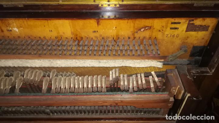 Instrumentos musicales: PIANO DE PARED PATENTE ERARD LONDRES - Foto 31 - 182972555