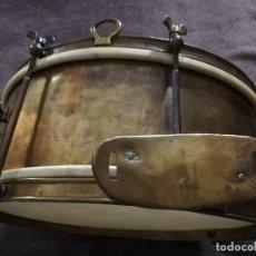 Instrumentos musicales: TAMBOR ANTIGUO DE LATÓN. Lote 193750493