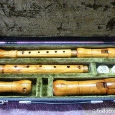 Instrumentos musicales: FLAUTAS KOBLICZECK ALTO Y SOPRANO,OLIVO. Lote 205305460