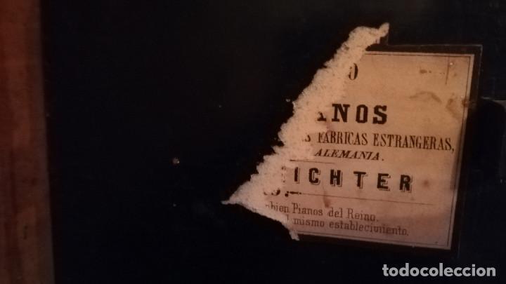 Instrumentos musicales: PIANO DE PARED FIRMA STAUB SIGLO XIX - Foto 10 - 193993358