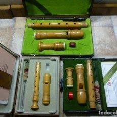 Instrumentos musicales: FLAUTAS MOECK ROTTENBURGH DE BOJ ALTO,SOPRANO Y SOPRANINO. Lote 194078816