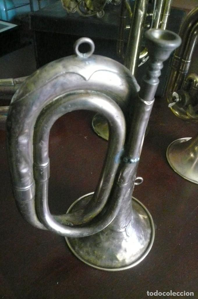 Instrumentos musicales: ANTIGUO CORNETÍN O CORNETA - Foto 2 - 194295418