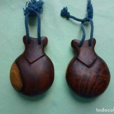 Instrumentos musicales: ANTIGUAS CASTAÑUELAS GRANADILLO - JACARANDA - GRANDES. Lote 194526053