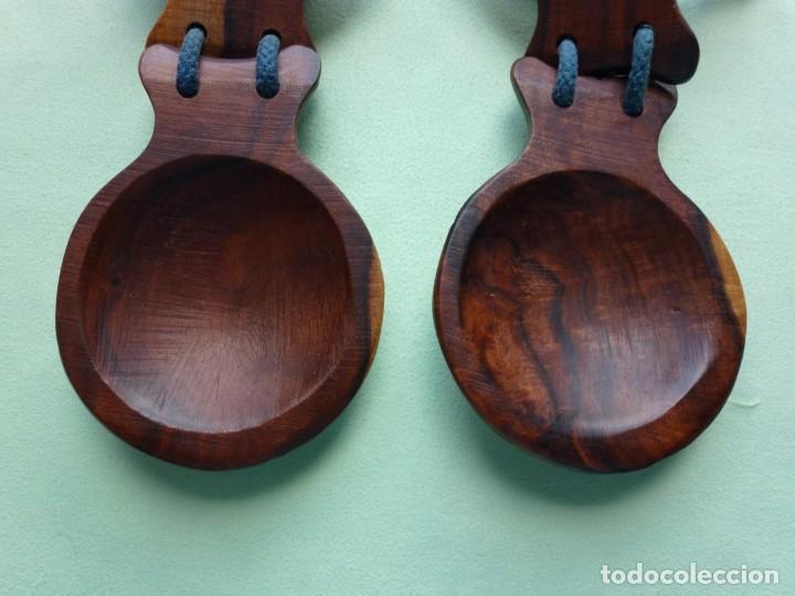 Instrumentos musicales: Antiguas Castañuelas Granadillo - Jacaranda - Grandes - Foto 3 - 194526053