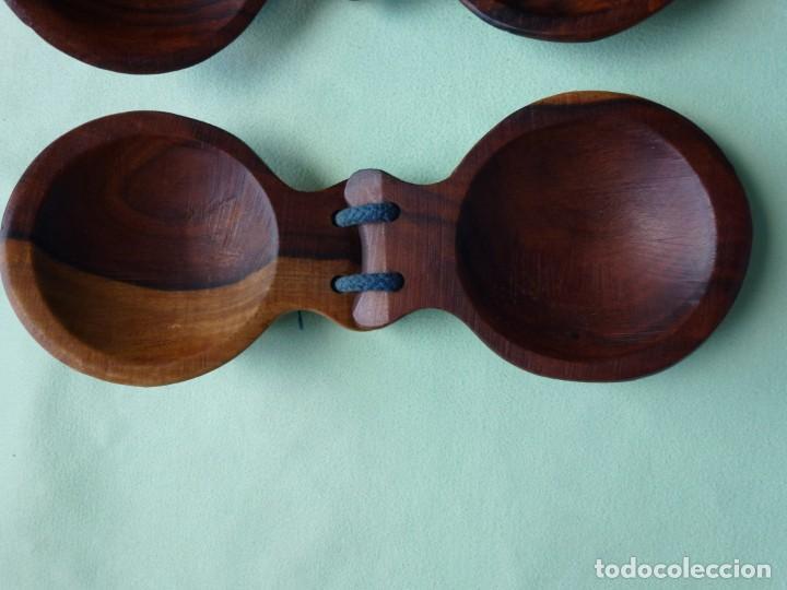 Instrumentos musicales: Antiguas Castañuelas Granadillo - Jacaranda - Grandes - Foto 5 - 194526053