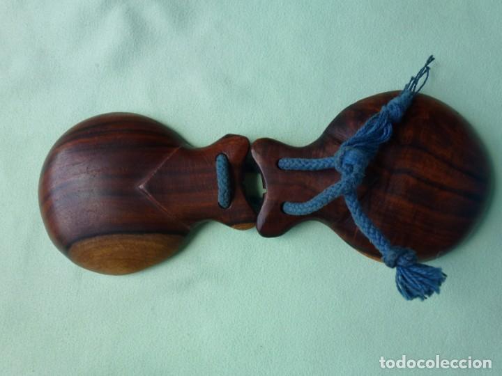 Instrumentos musicales: Antiguas Castañuelas Granadillo - Jacaranda - Grandes - Foto 7 - 194526053