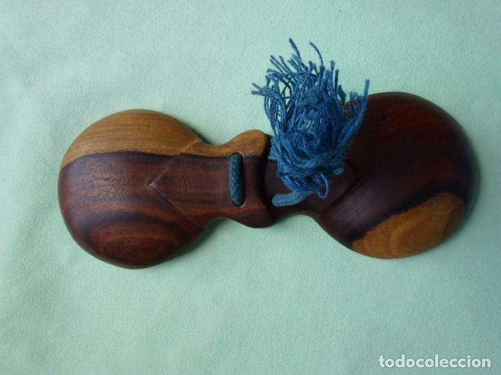 Instrumentos musicales: Antiguas Castañuelas Granadillo - Jacaranda - Grandes - Foto 8 - 194526053