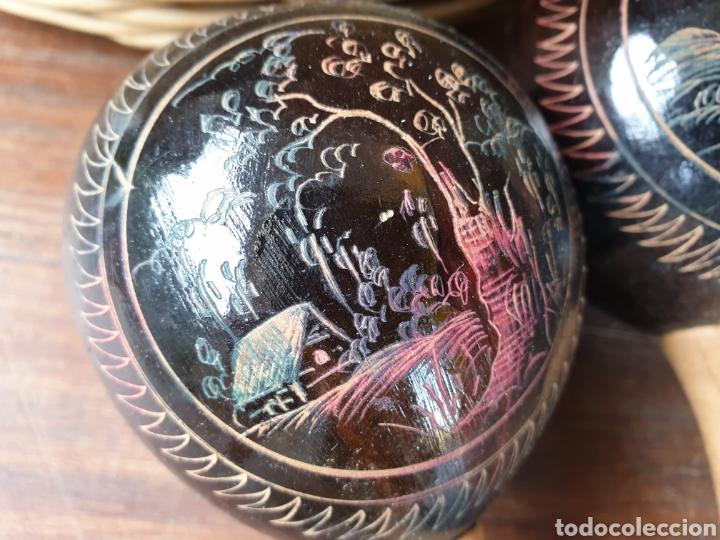 Instrumentos musicales: Maracas Cuba. Antiguas. Originales . - Foto 5 - 194593870