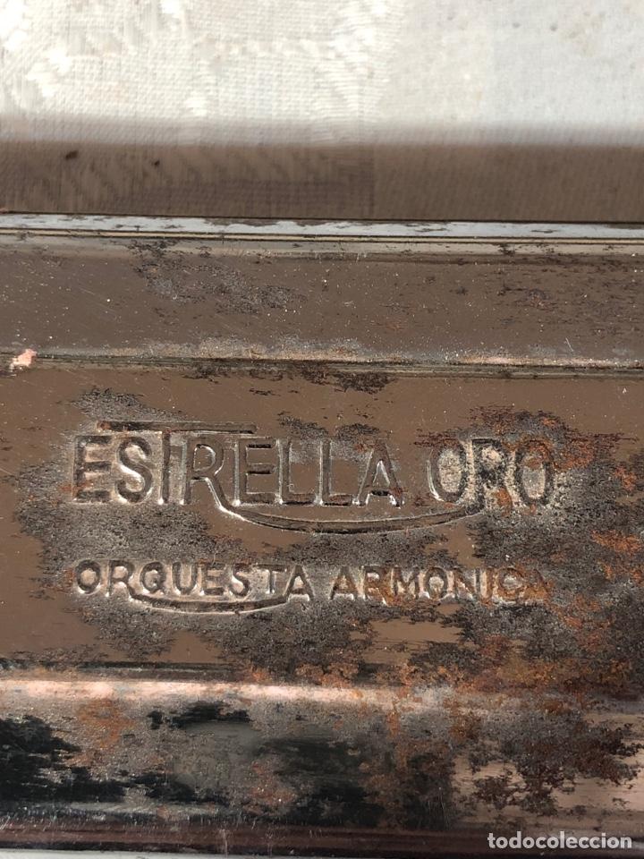 Instrumentos musicales: BONITA ARMÓNICA DE BOCA ESTRELLA ORO CON SU CAJA ORIGINAL - Foto 4 - 194774407