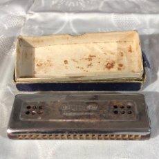 Instrumentos musicales: BONITA ARMÓNICA DE BOCA 'ESTRELLA ORO' CON SU CAJA ORIGINAL. Lote 194774407