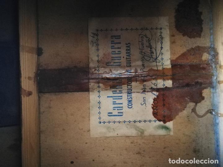 Instrumentos musicales: GUITARRA FLAMENCA DE PALILLOS CARDEÑAS GUERRA 1963 - Foto 7 - 195145760