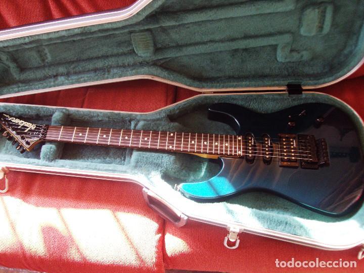 GUITARRA JACKSON PS2 FLOYD ROSE COMO NUEVA VERDE AZUL RECIEN QUINTADA (Música - Instrumentos Musicales - Guitarras Antiguas)