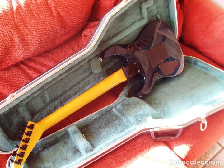Instrumentos musicales: Guitarra Jackson PS2 Floyd Rose como nueva verde azul recien quintada - Foto 4 - 195329341