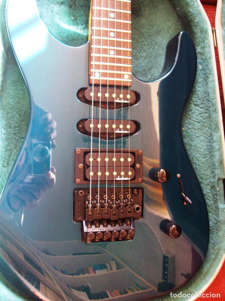 Instrumentos musicales: Guitarra Jackson PS2 Floyd Rose como nueva verde azul recien quintada - Foto 6 - 195329341