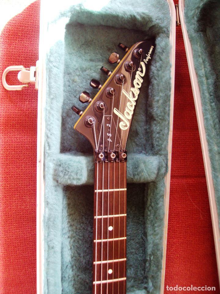 Instrumentos musicales: Guitarra Jackson PS2 Floyd Rose como nueva verde azul recien quintada - Foto 7 - 195329341