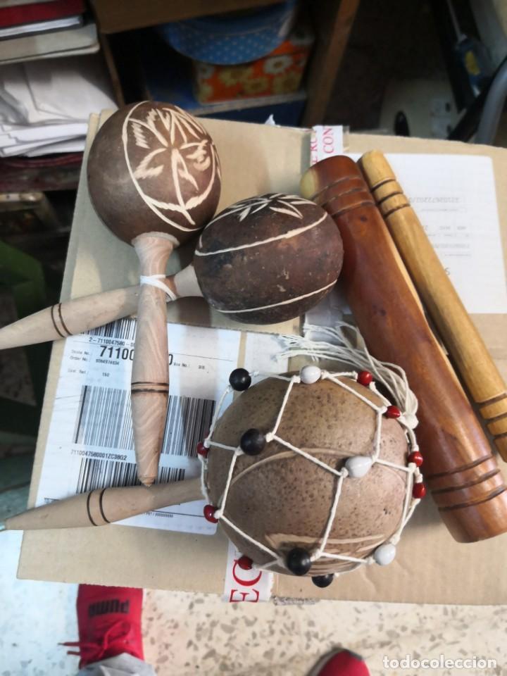 3 PIEZAS (CLAVE CUBANA O SON DE CUBA. INSTRUMENTO DE PERCUSION +MARACAS Y MARACON) (Música - Instrumentos Musicales - Percusión)