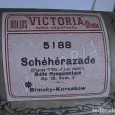 Instrumentos musicales: ROLLO VICTORIA PARA PIANOLA. SCHEHERAZADE. SUITE SINFÓNICA. RIMSKY KORSAKOV.. Lote 195663913