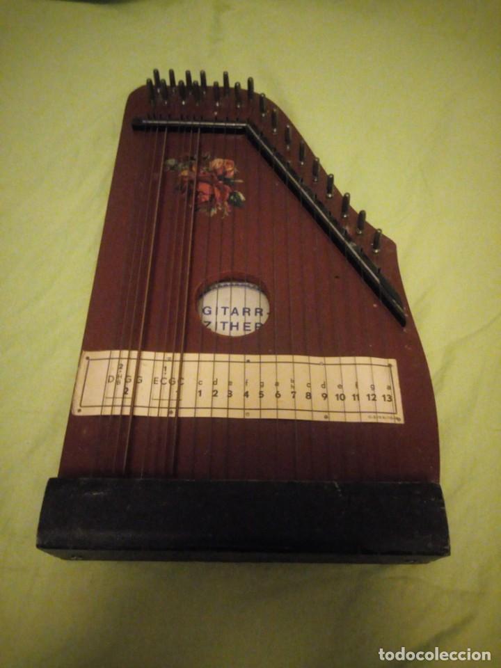 ANTIGUA CITARA GUITARR ZITHER 21 CUERDAS (Música - Instrumentos Musicales - Cuerda Antiguos)