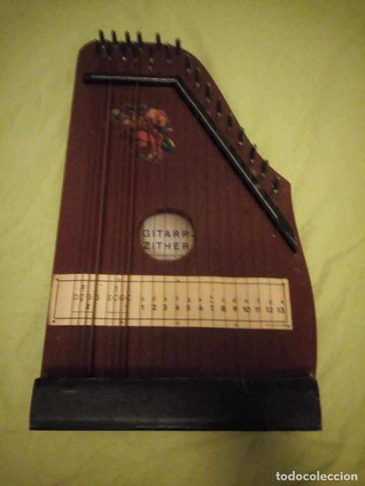 Instrumentos musicales: Antigua citara guitarr zither 21 cuerdas - Foto 2 - 195982262
