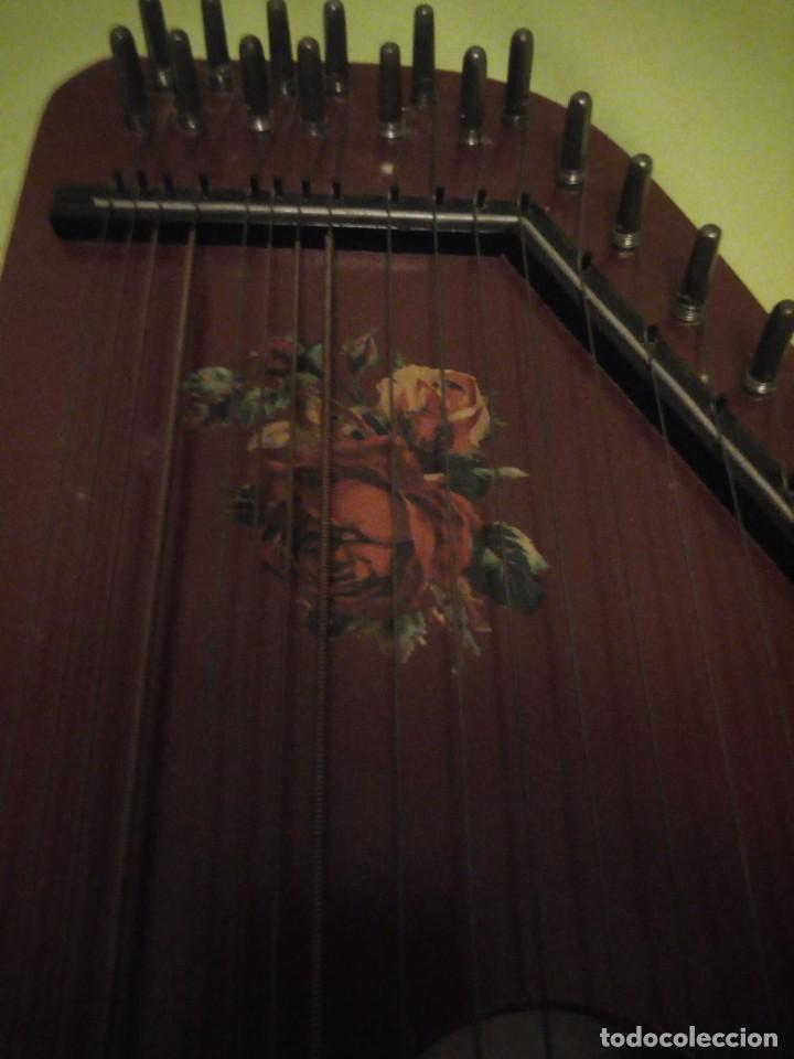 Instrumentos musicales: Antigua citara guitarr zither 21 cuerdas - Foto 4 - 195982262