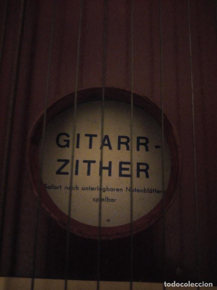 Instrumentos musicales: Antigua citara guitarr zither 21 cuerdas - Foto 5 - 195982262