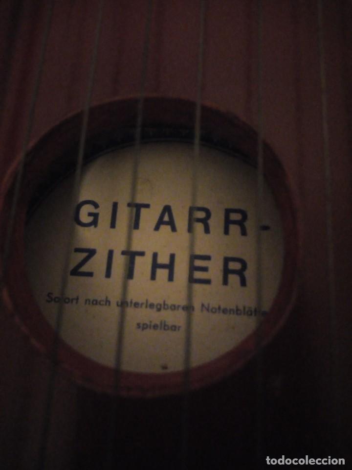 Instrumentos musicales: Antigua citara guitarr zither 21 cuerdas - Foto 6 - 195982262