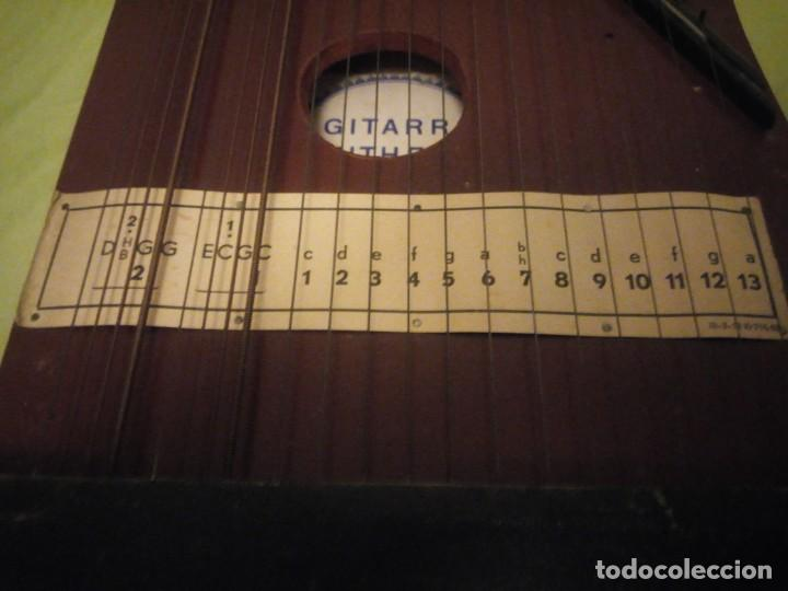Instrumentos musicales: Antigua citara guitarr zither 21 cuerdas - Foto 7 - 195982262