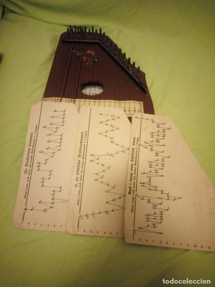Instrumentos musicales: Antigua citara guitarr zither 21 cuerdas - Foto 9 - 195982262