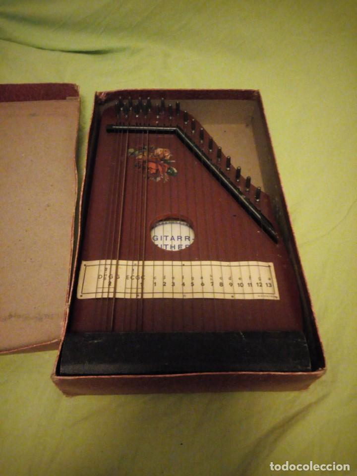 Instrumentos musicales: Antigua citara guitarr zither 21 cuerdas - Foto 10 - 195982262