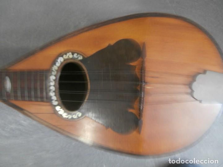 Instrumentos musicales: mandolina italiana antonio monzino milano siglo xix - Foto 2 - 196075545