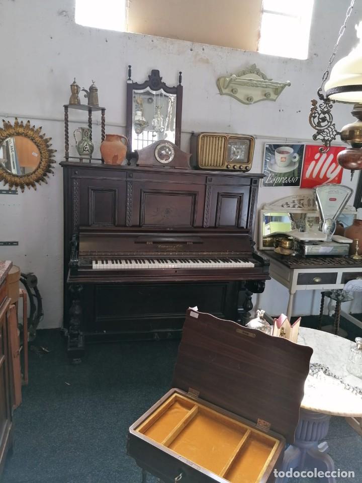 PIANOFORTE CATEURA Y CÍA. CAOBA DE CUBA. TECLADO ÉBANO Y MARFIL. BARCELONA, S. XIX. (Música - Instrumentos Musicales - Pianos Antiguos)