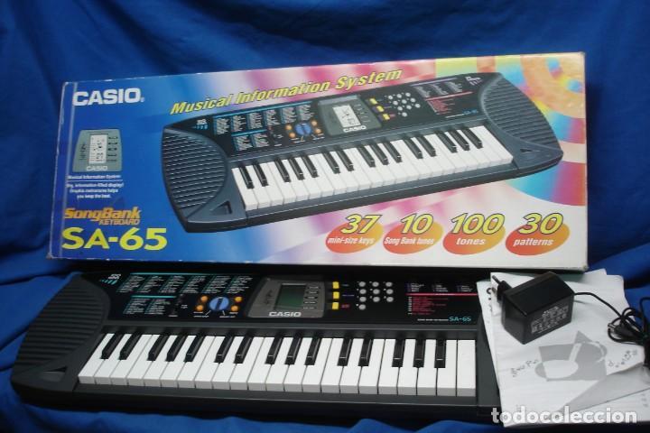 ORGANO CASIO SA-65 CON MANUALES, TRANSFORMADOR Y CAJA ORIGINAL - FUNCIONA (Música - Instrumentos Musicales - Teclados Eléctricos y Digitales)