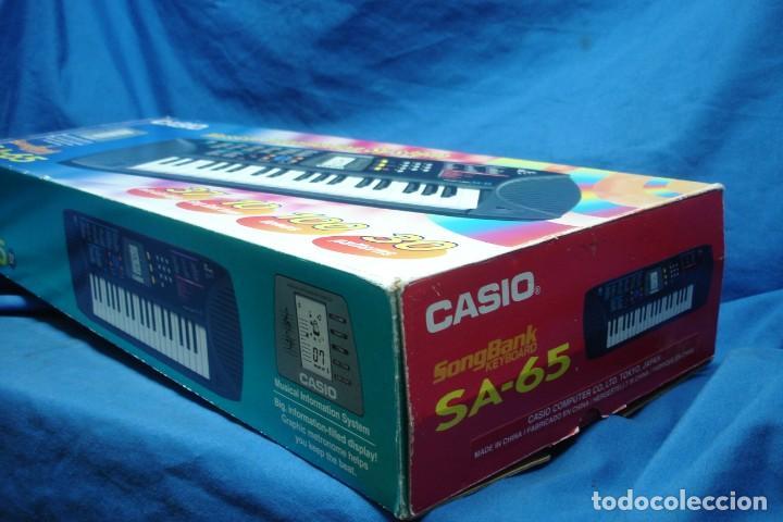 Instrumentos musicales: ORGANO CASIO SA-65 CON MANUALES, TRANSFORMADOR Y CAJA ORIGINAL - FUNCIONA - Foto 11 - 197301936