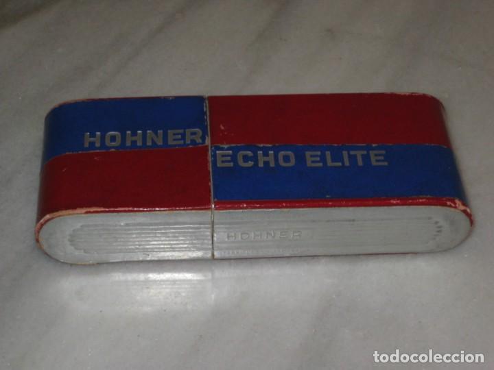 Instrumentos musicales: Antigua Armonica Hohner Echo Elite - Foto 10 - 197343763