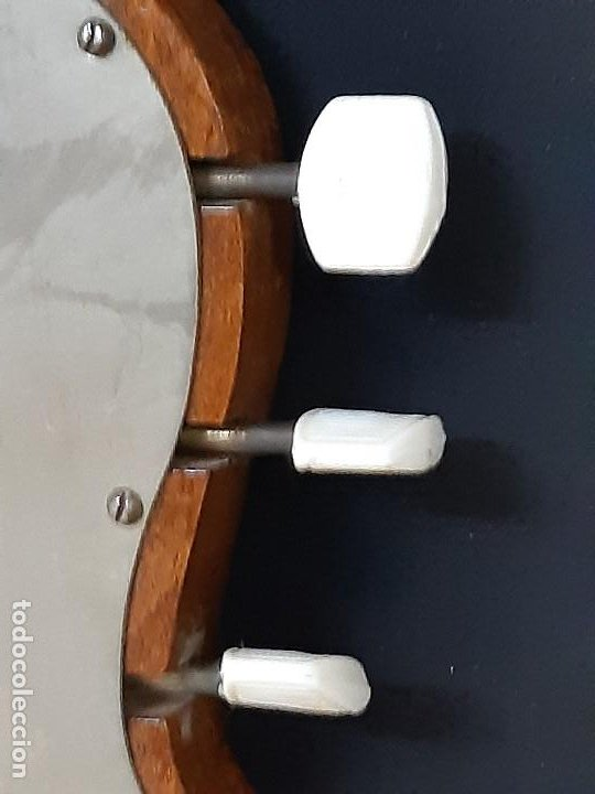 Instrumentos musicales: Domra de tres cuerdas. Mandolina. Rusia. Etiqueta interior. Siglo XX. - Foto 15 - 197361562
