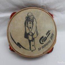 Instrumentos musicales: ANTIGUA PANDERETA, CLUB LORCA 21 FEBRERO 1915,. Lote 197914017