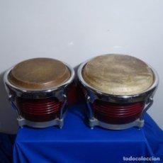 Instrumentos musicales: BONGOS BIEN CONSERVADOS.TAL COMO SE VEN EN LAS FOTOS.. Lote 198252815