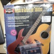 Instrumentos musicales: CURSO METODO DE GUITARRA POR TABALTURA . BASIX . CON CINTA. NUEVO PRECINTADO. Lote 198934100