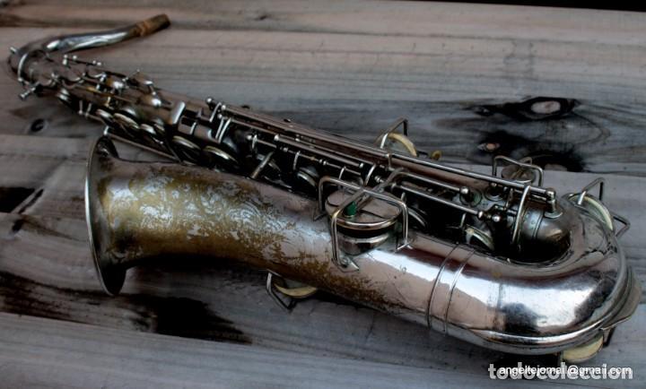 Instrumentos musicales: Saxofón antigüo Martin Handcraft.1925.RESTAURADO. - Foto 7 - 198975148