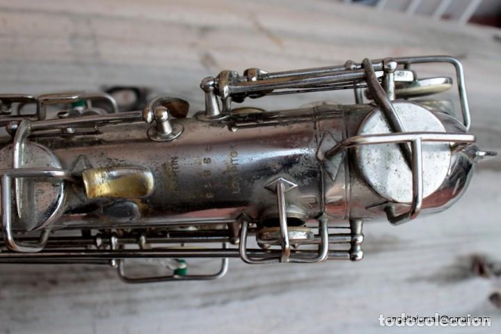 Instrumentos musicales: Saxofón antigüo Martin Handcraft.1925.RESTAURADO. - Foto 11 - 198975148