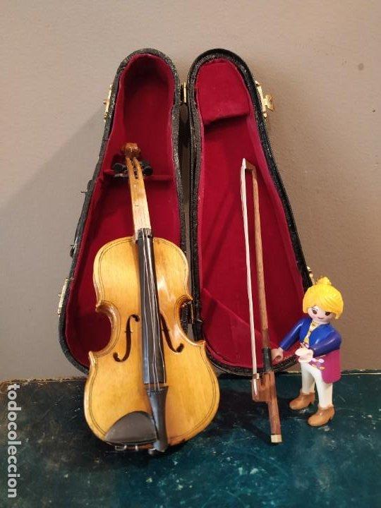 VIOLÍN VIOLA EN MINIATURA 18 CM (Música - Instrumentos Musicales - Cuerda Antiguos)