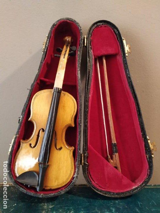 Instrumentos musicales: VIOLÍN VIOLA EN MINIATURA 18 cm - Foto 2 - 199133382